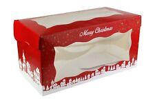 Christmas Log Cake Box Doric pack of 25 yule log boxes