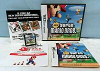 New Super Mario Bros. (Nintendo DS, 2006) Complete with Manual & - Tested
