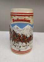 "VINTAGE BUDWEISER 1985 ""A"" Series CHRISTMAS HOLIDAY BEER STEIN MUG CERAMARTE"
