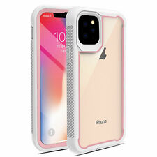 For iPhone 11 Pro Max Rugged Armor Case Clear Heavy Duty With Screen Protector