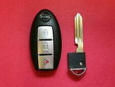 OEM Nissan Smart Key Remote Keyless Fob KBRTN001 Uncut Key with Chip