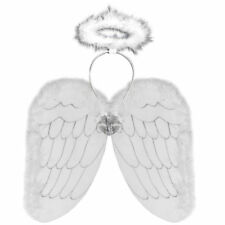 White Angel Wings And Halo Set -  ANGEL FANCY DRESS Nativity ( White & Silver )