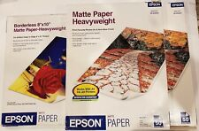 "Epson Matte Paper (2) Packs 50 Sheets 8.5"" x 11"" (1) Open Pack 8"" x 10"" See Desc"