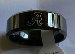 Alabama Crimson Tide Titanium Ring, style#1, sizes 5-14