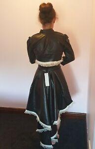 Phaze Clothing Steampunk PVC Saloon Burlesque Skirt & Bolero Brown & Cream Lace