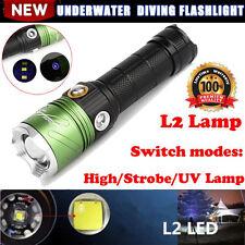Dive CREE XML L2 LED Scuba Diving Flashlight 5000 LM Torch UV Lamp Waterproof