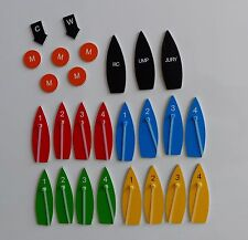 Big magnetic boat set for clubs, coaches and race committees, protest kit