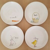 "(4) New Rae Dunn by Magenta  6"" Easter Appetizer Side Plates Home Kitchen Decor"