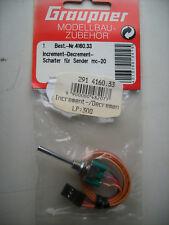 GRAUPNER 4160.33 Increment decrement-schalter pour l'émetteur mc-18/MC-20