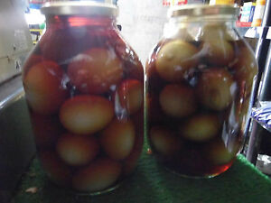 Half gallon glass jars ideal for pickles and preserves