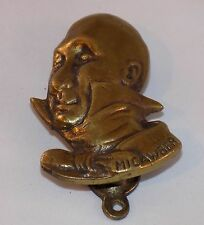 """Antique Brass Door Knocker - Dickens Character - """"Micawber"""""""