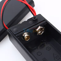 5PCS 9V Volt PP3 Battery Holder Box DC Case w/ Wire Lead ON/OFF Switch Cover