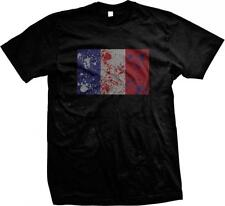 France Spatter Flag French Pride Française Français Fierté Drapeau Mens T-shirt