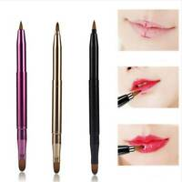 Portable Lip Brush Double-headed Retractable Lipstick Brush Makeup Accessory