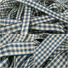 Berisfords Natural Ivory Gingham Ribbon - 10, 15 & 25mm Widths - 3 FOR 2 - P/M