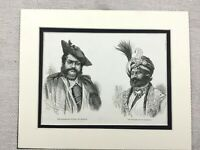 1875 Print Indian Maharajah Royalty Gwalior Cashmere India Antique Original