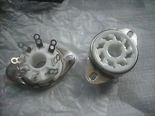 Ceramic octal 8 pin valve base tube socket porcelain china power EL34 KT88 KT66