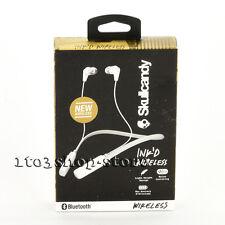 Skullcandy Ink'd In-Ear Bluetooth Wireless Headphones Headset w/Mic White/Gray