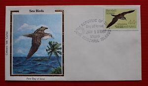 "Clearance - Marshall Islands (C13) 1987 Sea Birds Colorano ""Silk"" FDC"