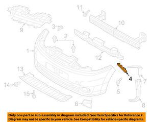 NISSAN OEM 13-18 NV200 Front Bumper-Side Bracket Left 622253LM0A