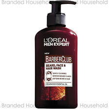 L'OREAL MEN EXPERT BARBER CLUB BEARD.FACE & HAIR WASH CEDARWOOD OIL 200ML