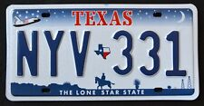 """TEXAS """" LONE STAR COWBOY SHUTTLE """" DISCONTINUED NYV 331 TX Graphic License Plate"""