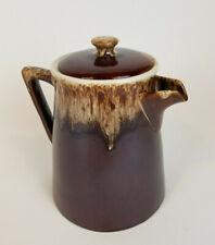 Vintage Large McCoy Brown Drip Glaze Pitcher w/Lid For Retailer Rubel