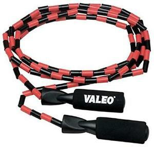 Valeo Beaded Jump Rope, Adjustable 9-Foot Length With Durable Plastic Beaded