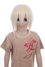w-ld002-88 BEIGE BLONDE 38cm Perruque Cosplay Cheveux Anime Manga