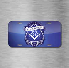 Free Mason License Plate Front Auto Tag Plate Masonic Lodge Free Masonry NEW