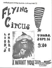 Cool Original Concert Handbill Flyer LION'S SHARE San Anselmo Marin County 1970s