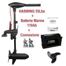 Pack Moteur Haswing Osapian 55 Lbs Neuf + batterie Marine 110Ah + cosses !!!