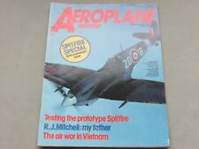 *LOOK* Vintage AEROPLANE MONTHLY Magazine March 1986 - Prototype Spitfire, 50th