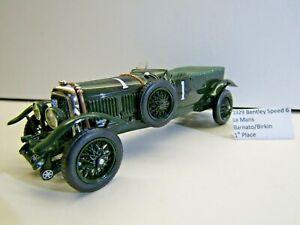 IXO 1:43 Scale Die-cast 1929 Bentley Le Mans H.Birkin / W.Barnato 1st Place