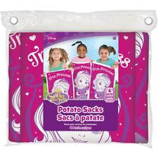 Disney Sofia the First Birthday Party Potato Sack Games 6 ct Party Supplies New