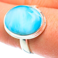 Larimar 925 Sterling Silver Ring Size 8.5 Ana Co Jewelry R52493F