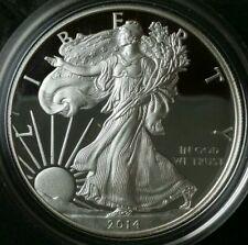 2014 W Proof $1 American Silver Eagle Dollar in Mint Capsule