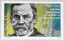 ST. PIERRE MIQUELON SPM 1995 687 610 Louis Pasteur Chemiker Mikrobiologe MNH