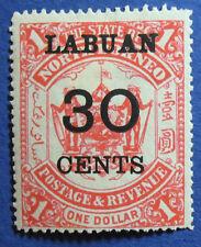 1895 LABUAN NORTH BORNEO 30c SCOTT# 61 S.G.# 78 UNUSED CS05071