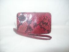 Kenneth Cole Reaction Red Snake Print Tech Me Out Smart Phone Wristlet Wallet