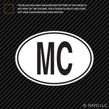 MC Monaco Country Code Oval Sticker Decal Self Adhesive Monacan euro