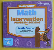 NEW Harcourt Math 4/4th Intervention Problem Solving CD-Rom,single-computer vers