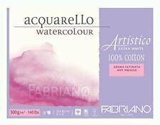 "Fabriano Artistico Watercolor Extra White Block 9""x12"" 300gsm HP 20 Sheets"