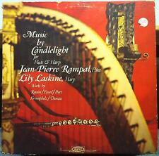 Jean-Pierre Rampal & Lily Laskine - Music By Candlelight LP VG+ LC 3917 WLP 1966
