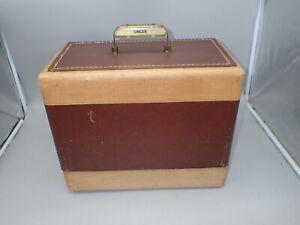 Vintage Singer Sewing Machine 99K Original Tweed Carrying Case