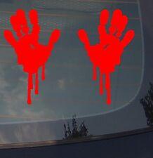 "Bloody Zombie Hand Print Sticker Funny Car Decal JDM Decorative 8"""