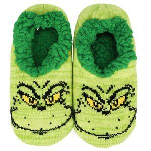 Dr. Seuss The Grinch Slipper Socks Fits Shoe Size 5-10 Christmas X-Mas Gift