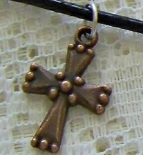 SMALL_ANTIQUED..COPPER ~ PLT ~ CROSS  ~  NECKLACE  --- (GREAT_CHRISTMAS_GIFT)