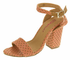 Strappy, Ankle Straps Block Textured Casual Heels for Women