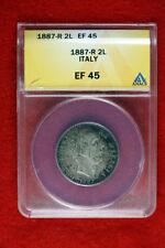 Silver ANACS Certified Italian, Sammarinese & Vatican Coins